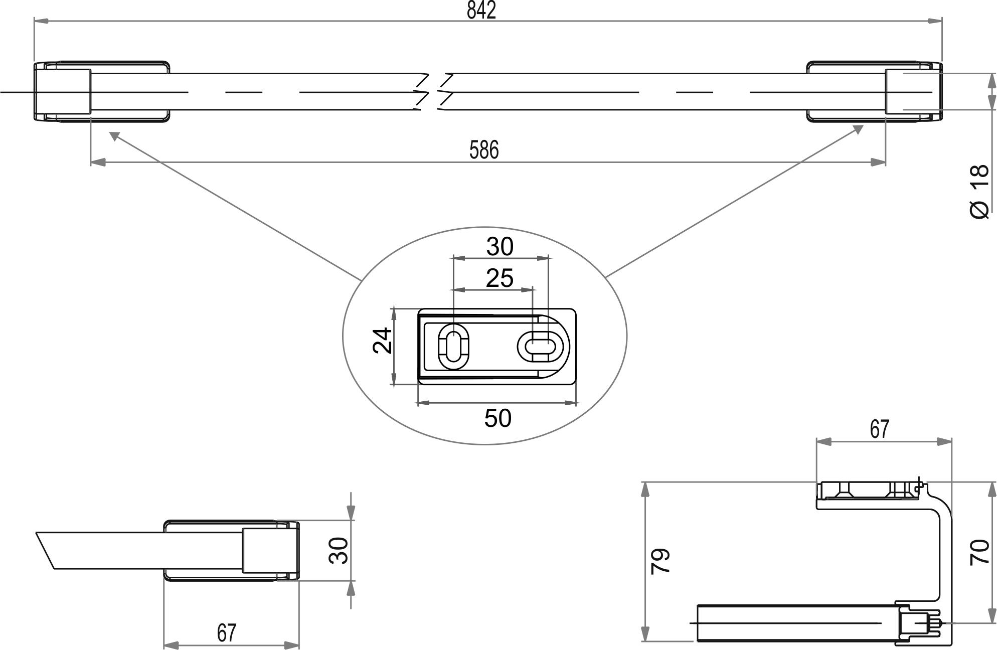 badetuchstange 80. Black Bedroom Furniture Sets. Home Design Ideas