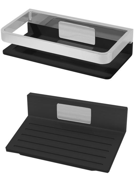 kombi fussst tze und haltegriff schwarz. Black Bedroom Furniture Sets. Home Design Ideas
