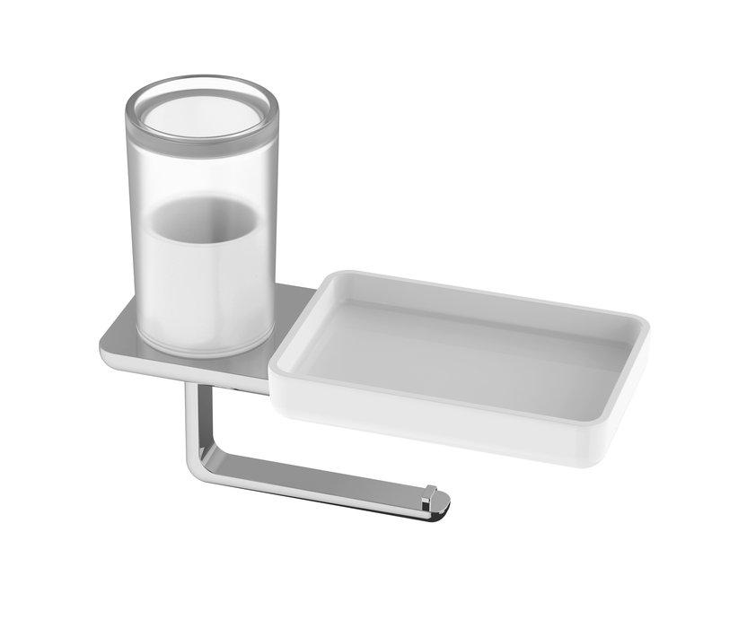 wc papierhalter mit hygienebox und ablageschale. Black Bedroom Furniture Sets. Home Design Ideas