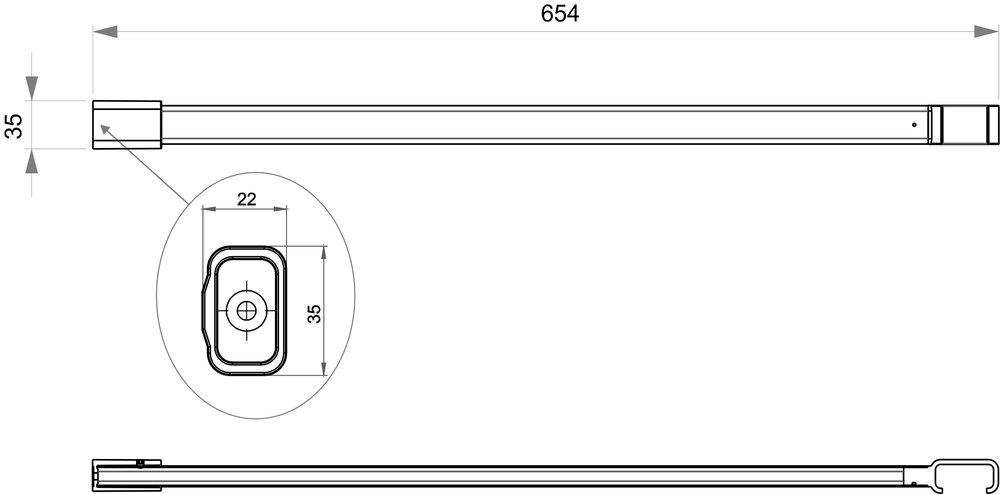 support au plafond pour rail pour rideau de douche blanc 60. Black Bedroom Furniture Sets. Home Design Ideas